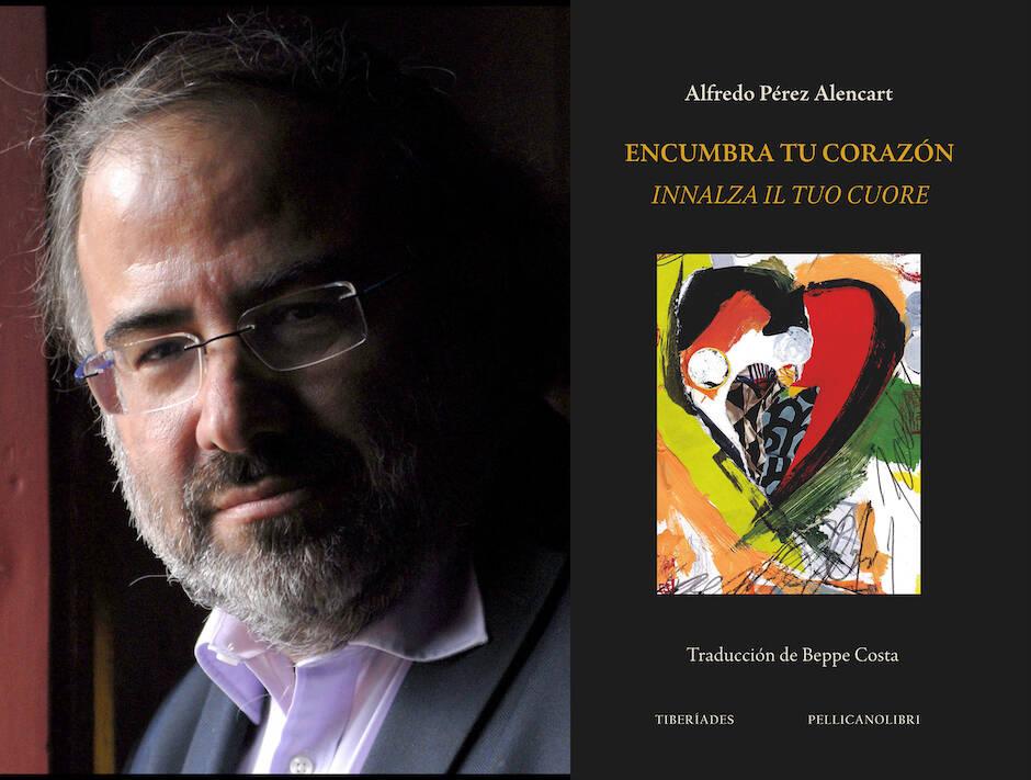 Alencart y la portada del libro. / Composición de J.C. Martín Cobano,