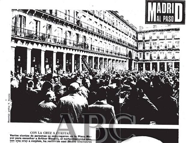 Don Alberto fue detenido durante el franquismo en el acto evangélico celebrado en la Plaza Mayor, el sábado 11 de noviembre de 1972.
