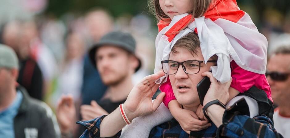 Srgei Tsvor es un cristiano evangélico que se ha unido a las protestas contra Lukashenko en Bielorrusia. / EF,