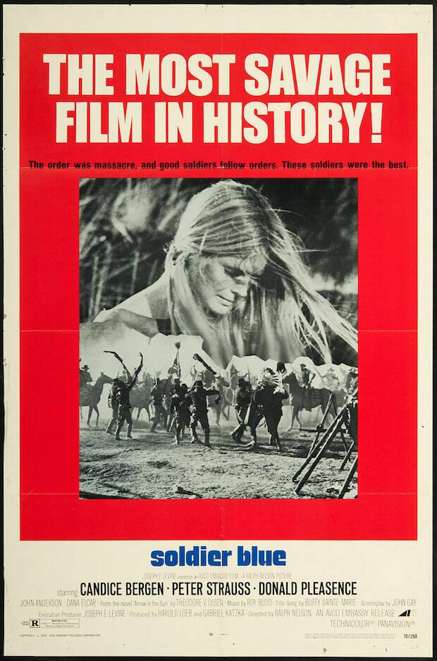 Hace medio siglo que se estrenó la película que se anunciaba como la más salvaje de la historia del cine, Soldado azul.