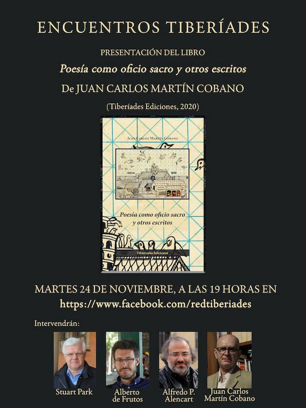 Martín Cobano presenta sus ensayos recogidos en 'Poesía como oficio sacro y otros escritos'