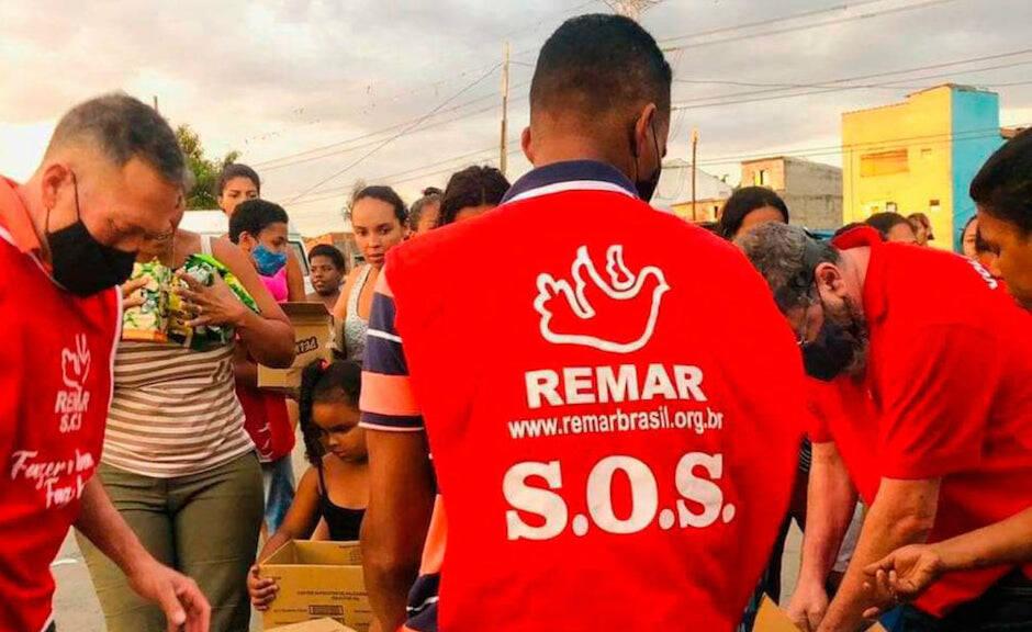Voluntarios de la ONG Remar en Brasil. / ONGD Remar,