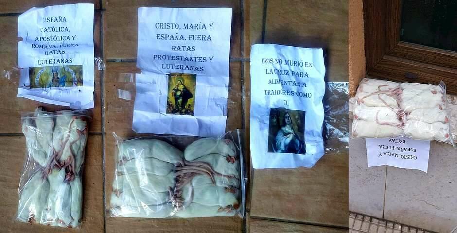 Llenan de ratas muertas un templo evangélico en Santander durante la Navidad