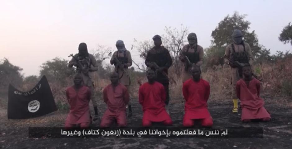 Ejecución de cristianos en Nigeria, emitida por la agencia Amat. / La Razón,