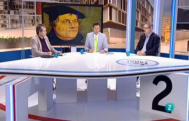 <p> Captura de pantalla de un momento del programa (Mario Escobar a la izquierda e Ignasi Fern&aacute;ndez a la derecha) &nbsp;/ La2, TVE</p> ,