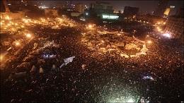 <p> La plaza Tahrir, en El Cairo, este pasado domingo. /AFP</p> ,