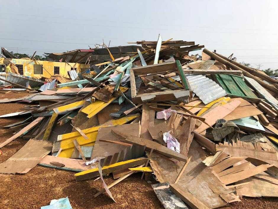 Según fuentes que han visitado la ciudad, se calcula que más de mil familias han perdido sus casa. / Eunice Blanco,
