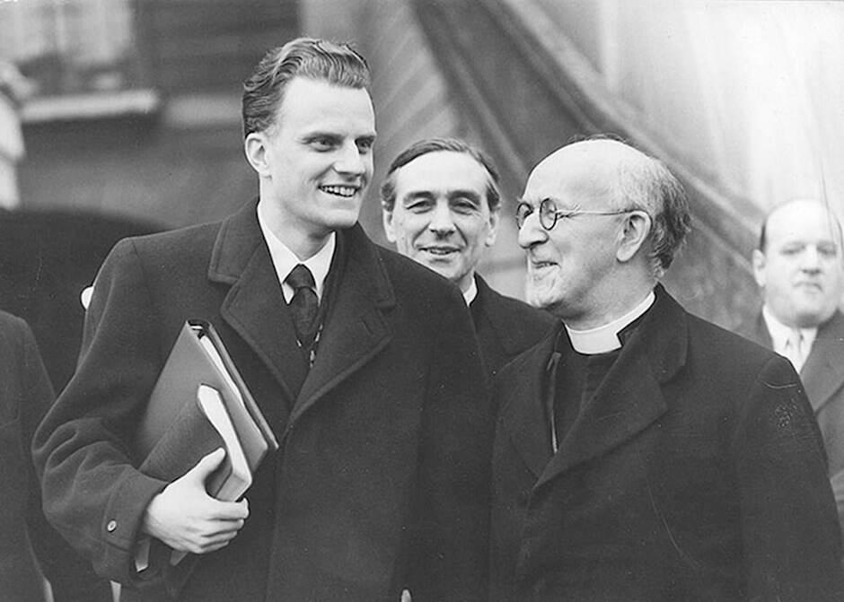 La segunda visita a Inglaterra de Billy Graham en 1955, para una campaña de evangelización en la Universidad de Oxford, provocó una gran controversia.