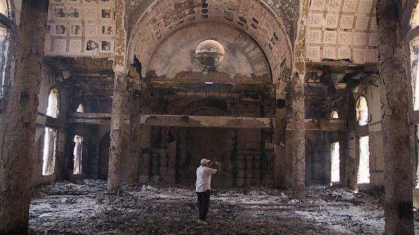 <p> Una de las iglesias destruidas en Egipto. / Ecclesia</p> ,