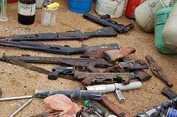<p> En el &uacute;ltimo enfrentamiento en Borno, los militares han incautado un lanzacohetes, dos lanzagranadas, cinco fusiles AK-47, una camioneta y munici&oacute;n diversa del grupo Boko Haram. / CSMonitor</p> ,