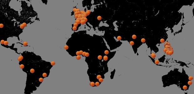 <p> Mapa de las vigilias que se celebrar&aacute;n la pr&oacute;xima semana (14-20 de octubre) convocadas por Exposed.</p> ,