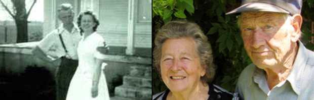 <p> Floyd y Margaret Nordhagen, de reci&eacute;n casados y en una foto reciente</p> ,