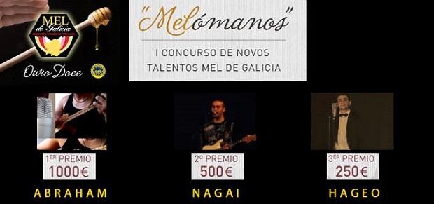 <p> Cartel con los ganadores del concurso Mel&oacute;manos. / Fb Mel de Galicia</p> ,