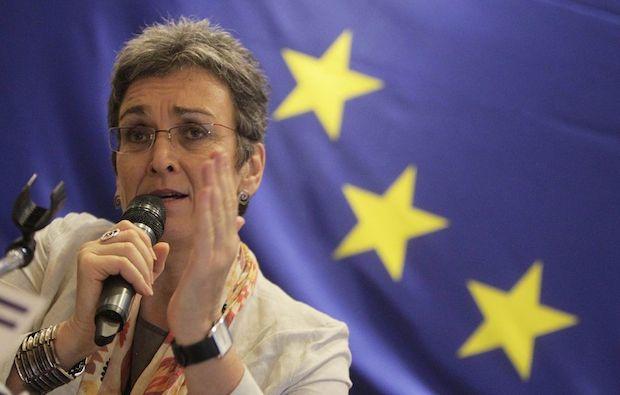 <p> Ulrike Lunacek, activista LGBTI y parlamentaria Europea.</p> ,
