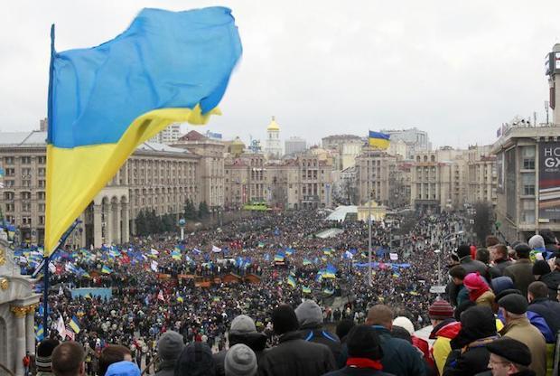 <p> La plaza Maidan en Kiev, Ucrania.</p> ,