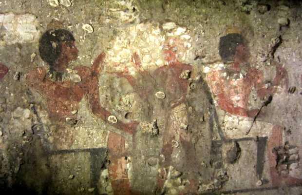 <p> Pintura halladas en la tumba reci&eacute;n descubierta en Luxor / CTAM Min Project</p> ,