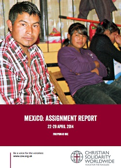 <p> Informe de CSW sobre Chiapas, de abril de 2014. / CSW</p> ,