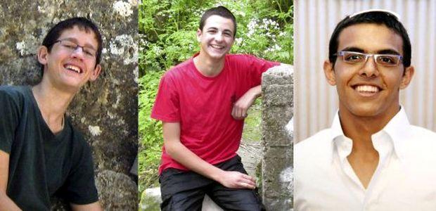<p> Los tres adolescentes jud&iacute;os asesinados</p> ,