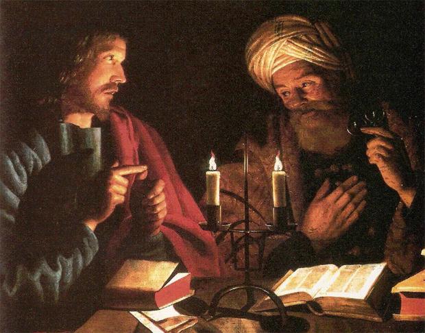 <p> Cristo y Nicodemo. /&nbsp;&nbsp;Volmarijn Crijn Hendricksz.</p> ,