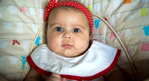 <p> Megan Hui, con cinco meses de edad / Christian Post</p> ,