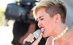 <p> Miley Cyrus.</p> ,